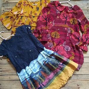 4 Fall Dresses Bundle 5t